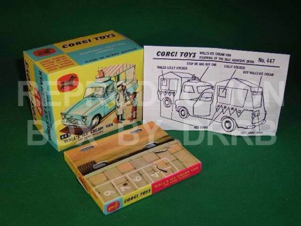 Corgi #447 Wall's Ice Cream Van (non-musical) – Reproduction Box